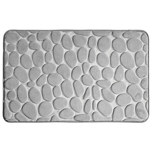 Mat Pebble (mDesign Pebble Accent Rug Memory Foam Bath Mat for Bathroom Showers - 34