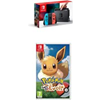 Pack Nintendo Switch Néon + Pokemon Let's Go Evoli