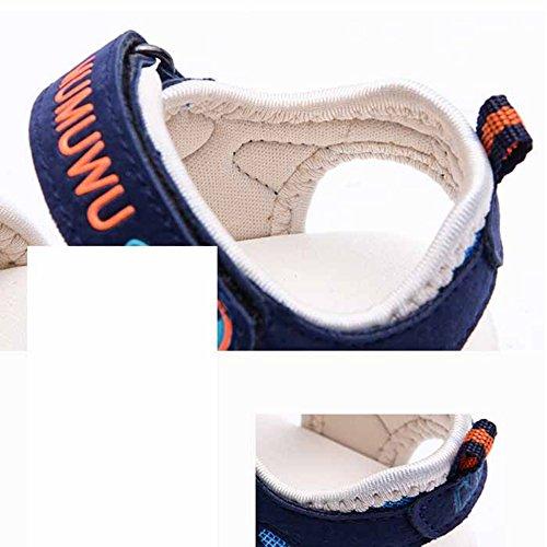 Scothen Playa de verano cerrado sandalias zapatos para caminar al aire libre ultraligero calzado transpirable plana unisex niños muchachas ocio zapatos de trekking para caminar/sandalias de la mitad Navy