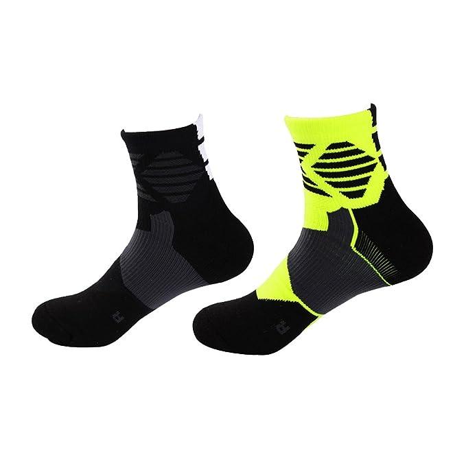 Zhhyltt Calcetines deportivos Medias medias Calcetines de hombre Sneakers con puño elástico Multicolor Outdoor Sport Socks
