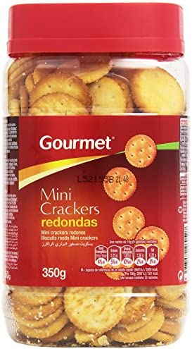 Gourmet – Mini crackers redondas – 350 g