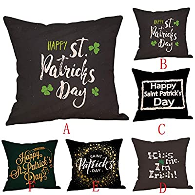 Throw Pillow Cover, DaySeventh St. Patrick's Day Pillow Cases Linen Sofa Cushion Cover Home Decor Pillow Case 18x18 Inch 45x45 cm