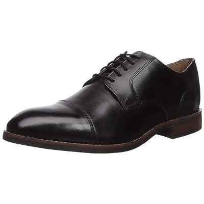 Nunn Bush Men Fifth Ave Cap Toe Oxford Dress Casual Lace Up, Black, 11 Medium | Oxfords