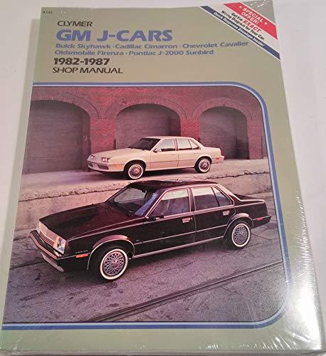 Gm J-Cars: Buick Skyhawk, Cadillac Cimarron, Chevrolet Cavalier Oldsmobile Firenza, Pontiac J-2000 Sunbird 1982-1987 Shop Manual