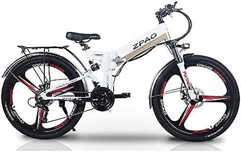 ZPAO KB26 Bicicleta Plegable de 21 velocidades, batería de Litio ...