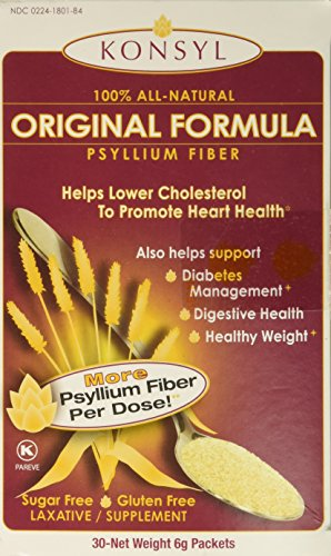 Konsyl Fiber Supplement (Konsyl Psyllium Fiber Original Formula -- 6 g - 30 Packets)