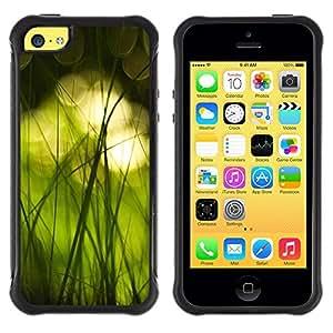 Suave TPU GEL Carcasa Funda Silicona Blando Estuche Caso de protección (para) Apple Iphone 5C / CECELL Phone case / / Nature Beautiful Forrest Green 16 /