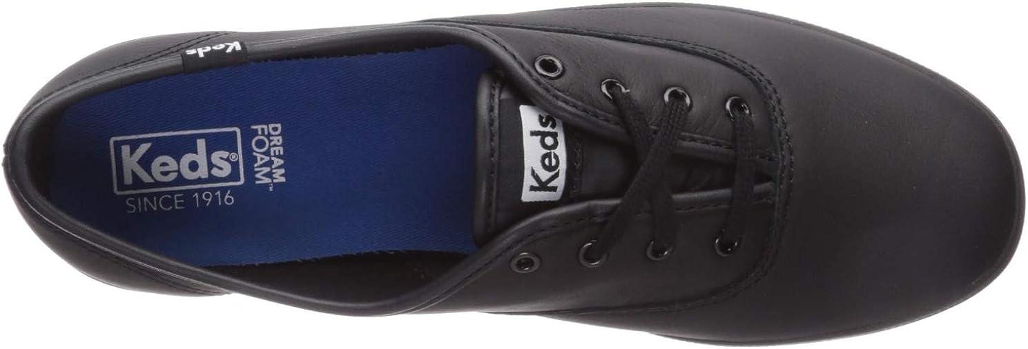 Keds Women's Champion Core Leather Sneaker (Black/Black Black/Black