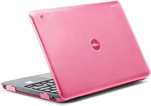 "iPearl mCover Hard Shell Case for 2017 11.6"" Dell Chromebook 11 3180 Series Laptop (NOT Compatible with 210-ACDU / 3120/3189 Series) (Pink)"