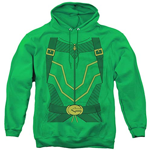 JLA Arrow Costume Unisex Adult Pull-Over Hoodie for Men and Women, X-Large Kelly Green