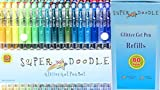 #6: Super Doodle 160 Glitter Gel Pen Coloring Set- Includes 80 Unique Color Glitter Gel Pens and 80 Matching Refills- Artist Quality Kit for Adult Coloring Books, Crafting, and Drawing