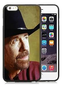 Hot Sale iPhone 6 Plus TPU Screen Case ,chuck norris actor hat superhero beard mustache brooding 27344 Black iPhone 6 Plus 5.5 Inch TPU Unique And Popular Designed Phone Case