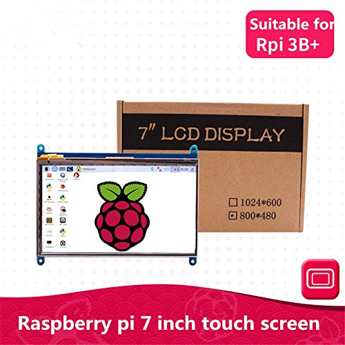 Raspberry Pi 7 inch LCD HD HDMI Touch Capacitive Screen Display for Raspberry Pi 3 B+ Rpi 3B Rpi 2B (7inch 1024600) by BONATECH
