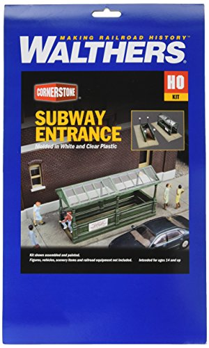 Entrance Kit - Walthers, Inc. Subway Entrance Kit with Builds 2 Complete Models