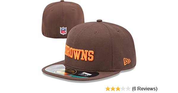Amazon.com   NFL Mens Cleveland Browns On Field 5950 Brown Game Cap By New  Era   Sports Fan Baseball Caps   Clothing ce45b6838