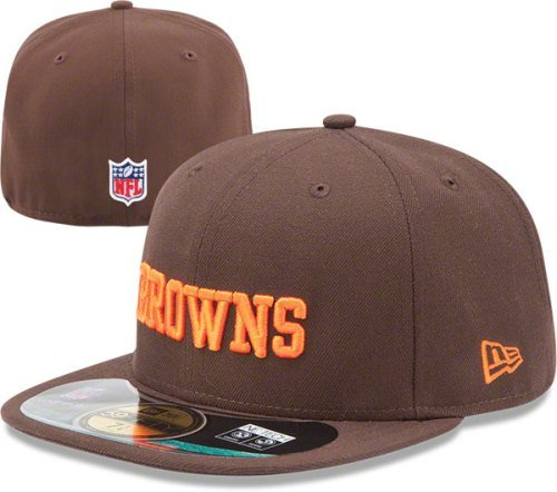 aca027c6826fa4 Amazon.com : NFL Mens Cleveland Browns On Field 5950 Brown Game Cap By New  Era : Sports Fan Baseball Caps : Clothing