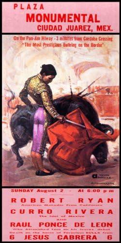 "Plaza De Toros De Ciudad Juarez #3 Canvas Art Poster 12/""x 24/"" Bullfighting"