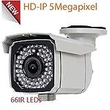 Amview HD IP 5MP PoE Security Camera 2.8-12mm Varifocal Lens OnVif Surveillance CCTV Camera