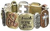 Alora Tile Stretch Bracelet, F