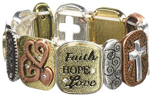 (Alora Tile Stretch Bracelet, Faith, One)