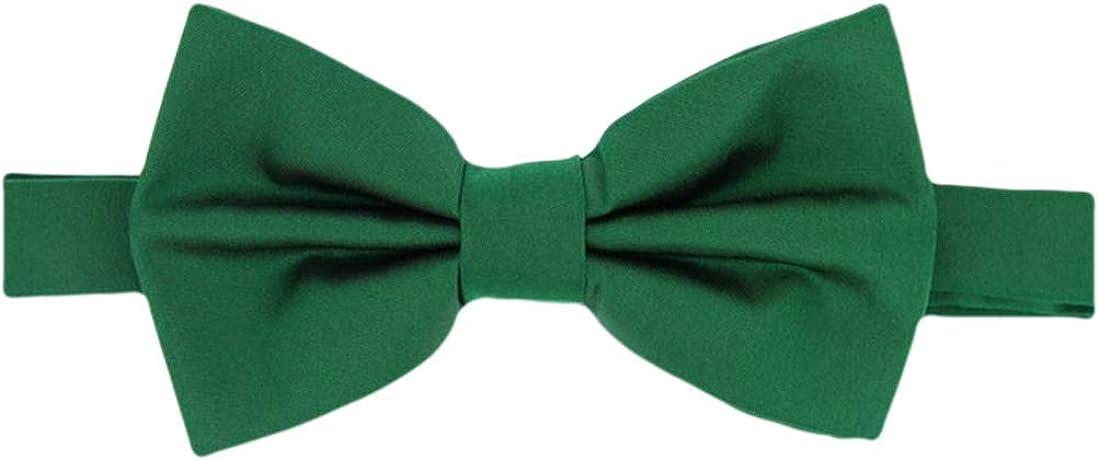 Verde esmeralda Llanura satén seda Corbata Pajarita - Pre Atado de ...