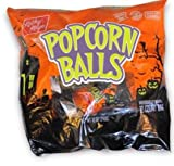 #3: Halloween Popcorn - Popcorn Balls Individually Wrapped