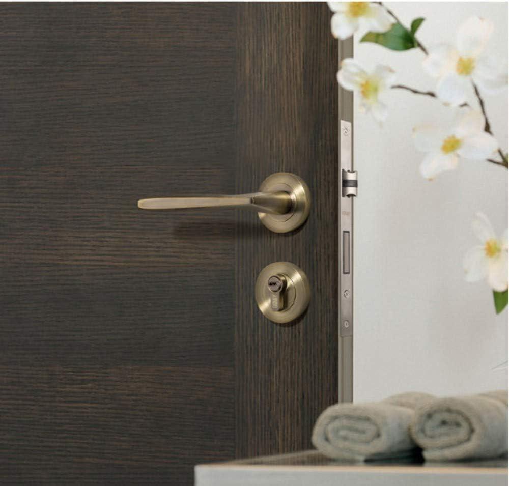 ALILEO Cerradura de puerta americana verde bronce antiguo split lock interior: Amazon.es: Bricolaje y herramientas
