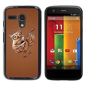 Smartphone duro PC Carcasa Funda protectora para Motorola Moto G 11ST Gen/Phone Case TECELL Store/Funny Guitar Owl