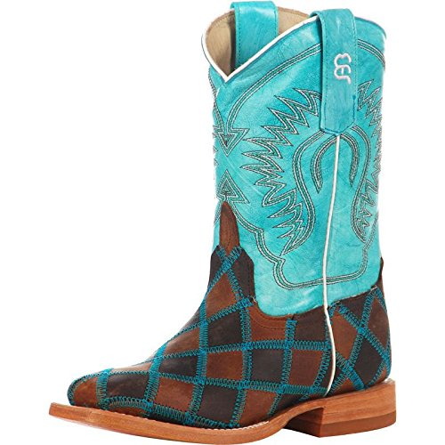 Anderson Bean Boys Kid s Insane In The Membrane Patchwork Cowboy Boots 5 B(M) US Brown/Turquoise