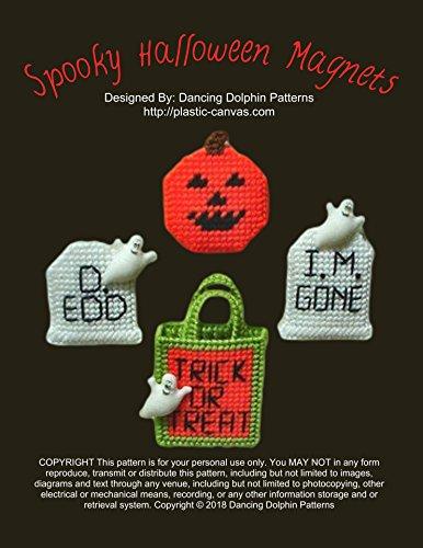 Spooky Halloween Magnets: Plastic Canvas Pattern (Halloween Decoartions)