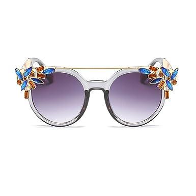 Deylaying Moda Vendimia Mujer Decoración Gafas de sol Metal ...