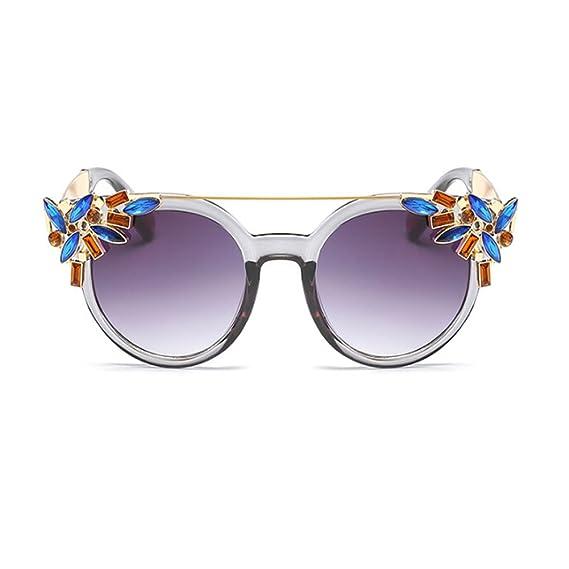 Deylaying Moda Vendimia Mujer Decoración Gafas de sol Metal Marco ...