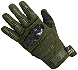 Rapdom Tactical Carbon Fiber Combat Gloves, Olive Drab, X-Large