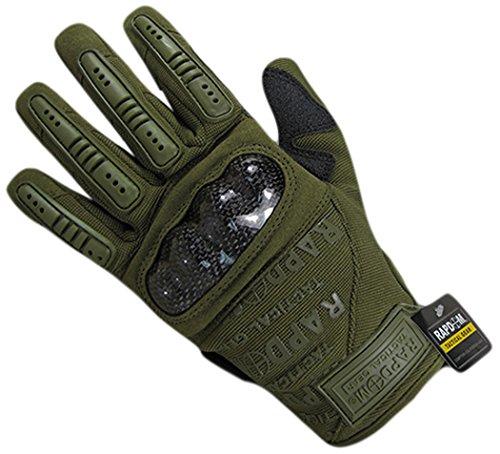 Rapdom Tactical Carbon Fiber Combat Gloves, Olive Drab, X-Large by RAPDOM