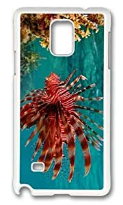 Adorable Fire Fish Hard Case Protective Shell Cell Phone Samsung Galaxy Note2 N7100/N7102 - PC White