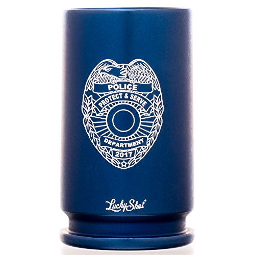 """Genuine 30MM A-10 Warthog""""POLICE"""" Cannon Shell Shot Glass in"""