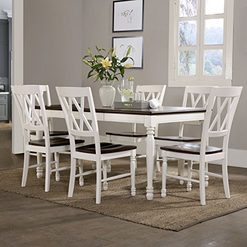 Crosley Furniture KF20001-WH Shelby 7-Piece Dining Set, White by Crosley Furniture (Image #4)