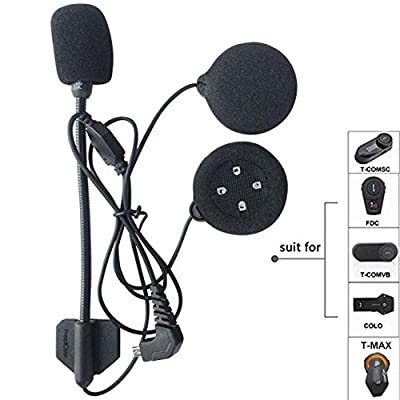 FreedConn Motorcycle Helmet Speakers Headset with Hard Corded Microphone Series Motorcycle Communication Systems: Automotive