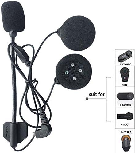 Kit accessori composto da microfono,Mount Clip Freedconn Tech Accessori per Interfono moto bluetooth Auricolari