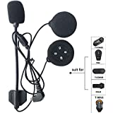 Micrófono Altavoz duro cable de los auriculares para el casco de FreedConn T-MAX,