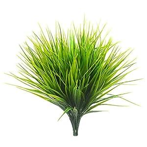 Bird Fiy Artificial Greenery Plastic Wheat Grass Fake Leaves Shrubs Greenery Bushes Indoor Outside Home Garden Office Verandah Wedding Décor 24