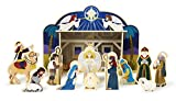 Melissa & Doug Classic Wooden Christmas Nativity Set...