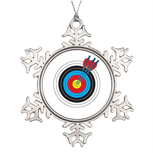 Ai Vion Tree Branch Decoration Archery Target with Arrows Personalised Christmas Tree Decoration