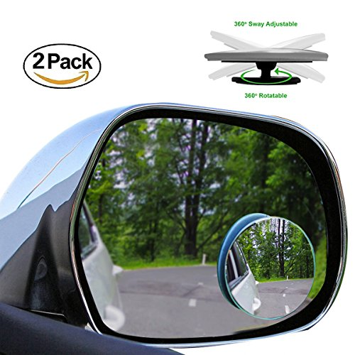 Curved Wing (2 Pack Blind Spot Mirrors Car Accessories By Lebogner - 2