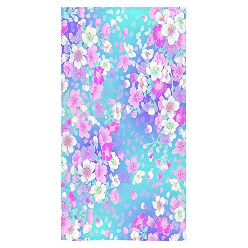 Beach Towel 30 x 60 Inches Blossom Tree, Sakura Flower Design Machine Washable