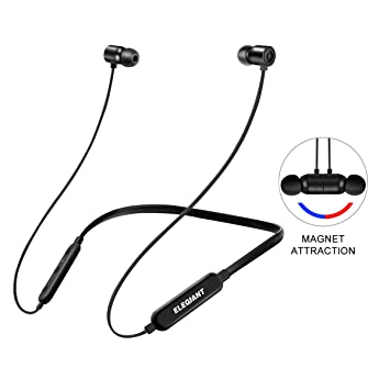 ELEGIANT Auriculares Bluetooth Inalámbricos Deportivos Magnéticos IPX5 Deportes Correr Sonido Estéreo 10 Horas de Reproducción con Micrófono para iPhone ...