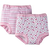Gerber Toddler Girls' 4 Pack Training Pants, Lil' Flowers, 3T