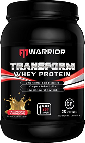 Chocolate Peanut Butter Swirl (Transform Whey Protein [Choc Peanut Butter Milkshake], 25g Protein, 2 Pound Powder, 28 Serv, Cross-Flow Ultra-Filtered Cold-Processed, Grass Fed, Non-GMO, Gluten-Free, Low Cal, Low Fat, Low Carb)