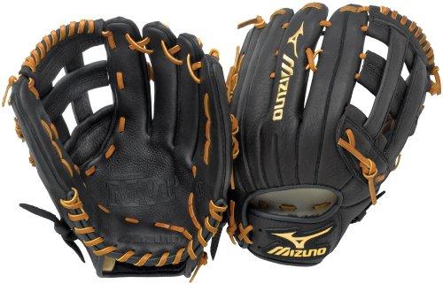 (Mizuno MVP GMVP1276 Baseball Fielder's Mitt, Black, 12.75-Inch, Left Handed)
