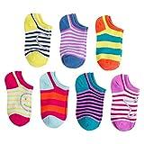 Girls' Casual Socks Multi-Colored 5.5-8.5 (21 Pairs)